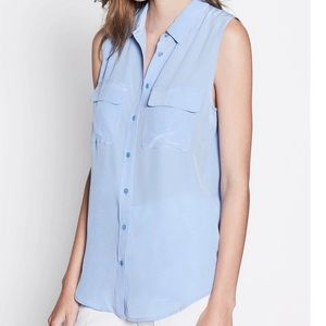 118356cf2f8db Equipment Slim Signature Sleeveless Blouse